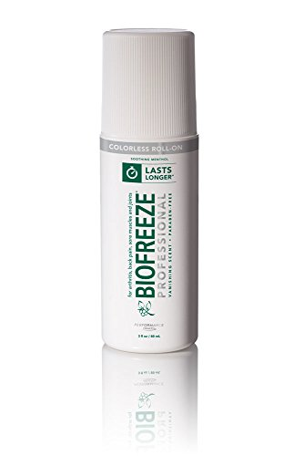 Biofreeze Professional Pain Relieving Gel,Topical Analgesic for Enhanced Relief of Arthritis, Muscle, and Joint Pain, NSAID Free Pain Reliever Cream, Roll-On 3 oz, Colorless Formula, 5% ()