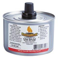 FancyHeat Chafing Fuel Can, Stem Wick, 4-6hr Burn, 8oz, 24/Carton by FANCY HEAT