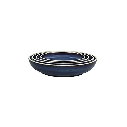 (Denby USA Peveril Nesting Bowls (Set of 4), Blue)