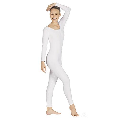 [Eurotard 10129 Long Sleeve Unitard (White, 2X)] (Flesh Colored Bodysuit)