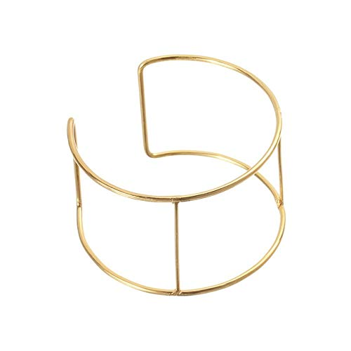 Laliva LOULEUR 6pcs/lot Diameter 6.5cm Metal Wire Blank Cuff Bracelets Bangles Bases Frame Settings for DIY Jewelry Making Findings - (Color: Gold) (Cuff Wire)