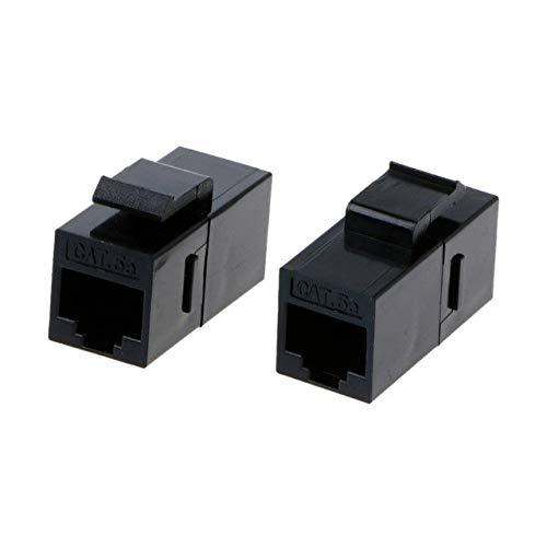 Computer Cables 2 Pcs CAT5e/CAT6 Unshielded Pass-Through Module UTP Network Module RJ45 Connector Adapter - (Cable Length CAT5e)
