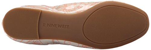 Nine West Girlsnite Ballet Synthetic Flat Off White/Pink tFIpSYlSdm