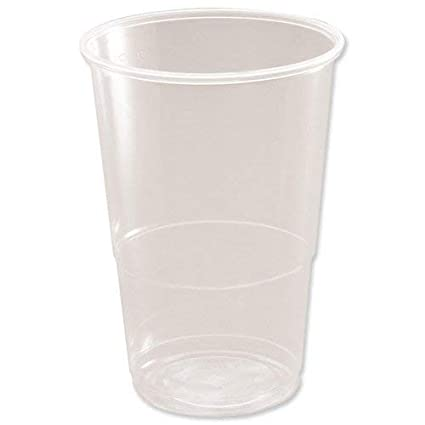 CPD 77907CP Plastico 1//2 Pint Plastic Glass Pack of 50 Clear