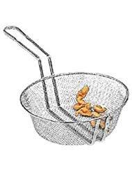 (American Metalcraft CBF10 Culinary Basket, Fine Mesh, Tinned Steel, 9