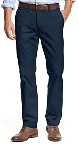 Tommy Hilfiger Mens Tailored Fit Chino Pants (Masters Navy, 38x32) ()