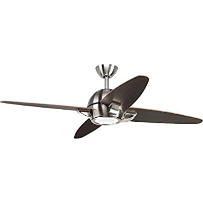 "Progress Lighting P2542-0930K Soar Collection 54"" 4 Blade Fan with LED Light"