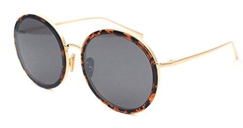 de Retro de Gafas de Sol Metal Ojos Gafas Femenino MOQJ Redondo Marco de B Sol gzwqfzR