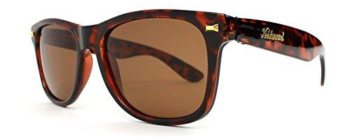 Knockaround Fort Knocks 1.0 Non-Polarized Sunglasses, Tortoise Shell Frame/Amber - Sunglasses Shell Tortoise Men