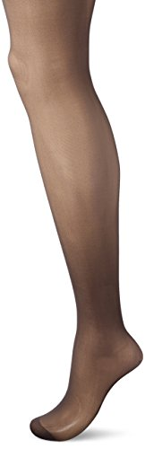 L'eggs Women's Silken Reinforced Toe Panty Hose, Soft Black, A -