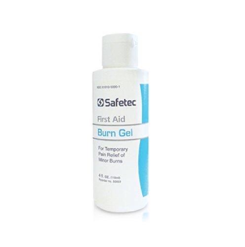Burn Gel by Safetec - 4 Ounce Bottle, Pain Relief Gel for (Burnaid Burn Gel)