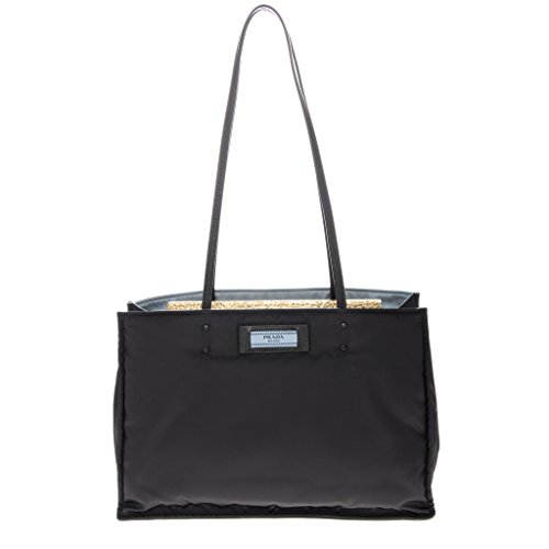 Prada Womanâ€s Nylon Shopping Bag Black (Prada Womens Nylon Handbag)