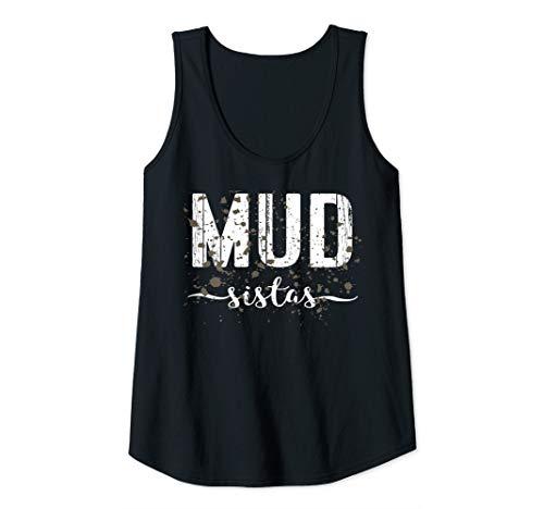 Womens Mud Run Team Shirt Marathon Runner 5K Gift Mud Sistas Women Tank Top
