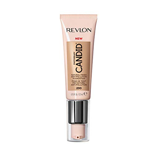 Revlon PhotoReady Candid Natural Finish Foundation, with Anti-Pollution, Antioxidant, Anti-Blue Light Ingredients, without Parabens, Pthalates and Fragrances; Bare.75 Fluid Oz