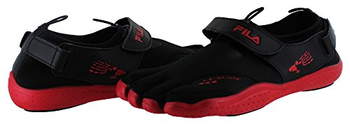Skele Fila Black Red Slide Ez Toes and Drain pqngvwHTq