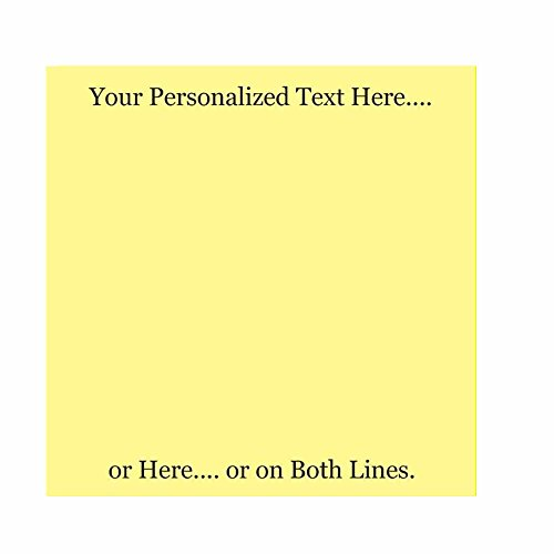 (Personalized Sticky Notes Set of 3 - Custom Stationery Paper Memo Pads - Office School or Party Supplies)
