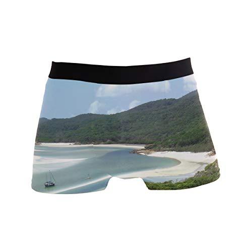 (Titlesign Men's Sexy Boxer Briefs Ocean Golf Course Print Stretch Bulge Pouch Underpants Underwear)