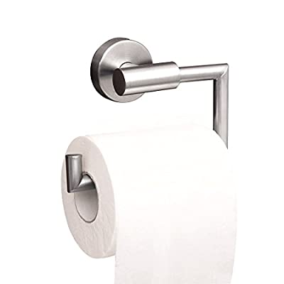Toilet Paper Holder Stainless Steel Wall Mounted Towel Rack Matt Finished, No Drill for Kitchen, Bathroom, Hotel