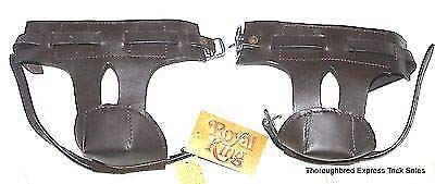 Tough 1 One Pair Dark Oil Deluxe Skid Boots Western English Horse Tack 66-5500 (Leather Latigo Twist)