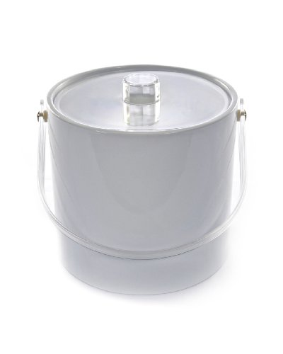 (Mr. Ice Bucket 701-1 Regency White Ice Bucket, 3-Quart)