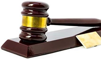 Gavel Set Desk Display | | Gavel Beautiful Wood Lawyers Judges Gavel Gifts  | Engraved Option | Gavel Set | Law Gavel | Attorney Gifts | Law Graduate