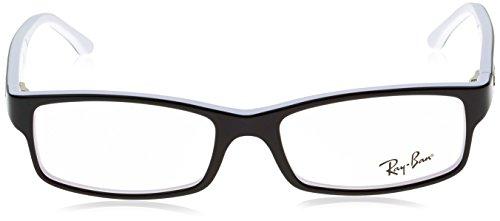 Ray-Ban RX5114 Lunettes en noir sur blanc RX5114 2097 52 Noir (Negro)