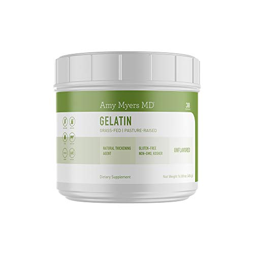 Pure Grass Fed Gelatin Protein Powder from The Myers Way Protocol – Supports Healthy Skin, Hair, Nails and Bone & Joint Health – Dietary Supplement 16 OZ, 38 Servings – from Dr. Amy Myers