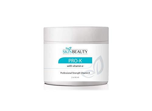 2oz -Pro-K Vitamin K Cream Professional Strength- Rosacea Capillaries, Thread Spider Varicose Veins, Puffy Dark Under Eye Circles. (Get Rid Of Spider Veins On Nose)