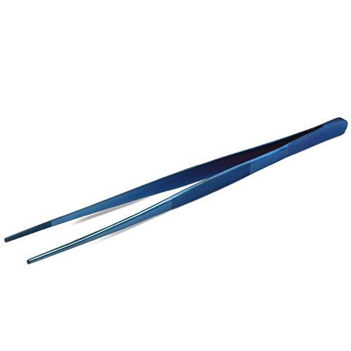 JB Prince Blue Straight Tip Tweezer 10 inches by JB Prince
