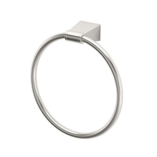 Gatco 4732 Bleu Towel Ring, Satin (Gatco Nickel Towel Rack)