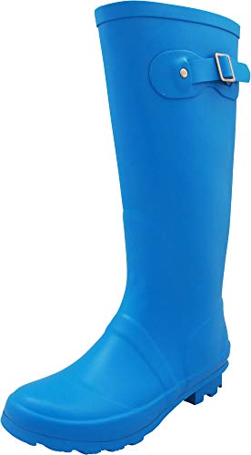 NORTY - Womens Hurricane Wellie Solid Matte Hi-Calf Rain Boot, Cobalt 40708-7B(M) US