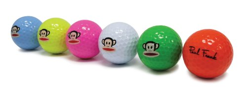 Paul Frank Golf Balls (Pack of 6), Multi-Color, Outdoor Stuffs