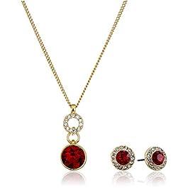 NINE WEST Women's Boxed Red Neck Earrings Set, Size: 0