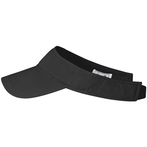 Anvil Low Profile Twill Sun Visor COLOUR Black SIZE ONE SIZE