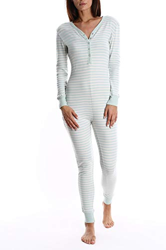 Onesie Pajamas - Ladies One Piece PJ's & Sleepwear - Mint, Large ()