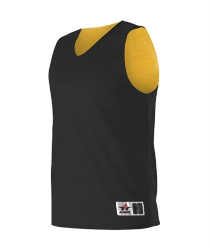 Alleson Reversible Mesh Basketball Jersey - Adult - Black Light Gold - Small 323f5870f