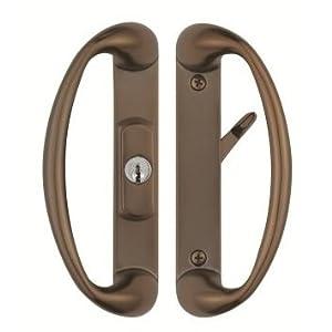 cambridge sliding glass door handle with center keylock durable