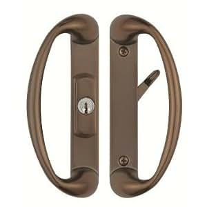Cambridge Sliding Glass Door Handle with Center Keylock