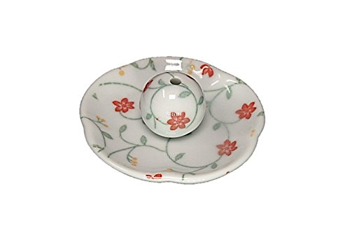 ACSWEBSHOP Made in Japan Ceramic Incense Holder Flower Shape Dish Floral Bouquet - Bouquet Japan