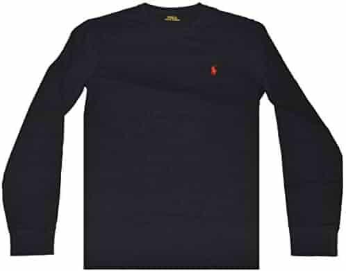 de0991dd Polo Ralph Lauren Men's Long Sleeve Crew Neck Pony Logo T-Shirt (Large,