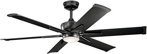 Kichler 300300SBK Szeplo Patio Ceiling Fan, 60