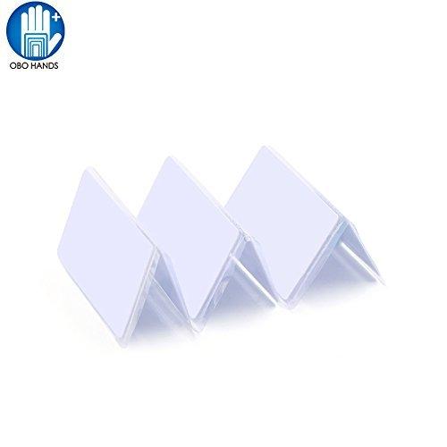 OBO HANDS RFID 125KHZ Em4305 White Cards Writable Rewrite Cards (20) by OBO HANDS