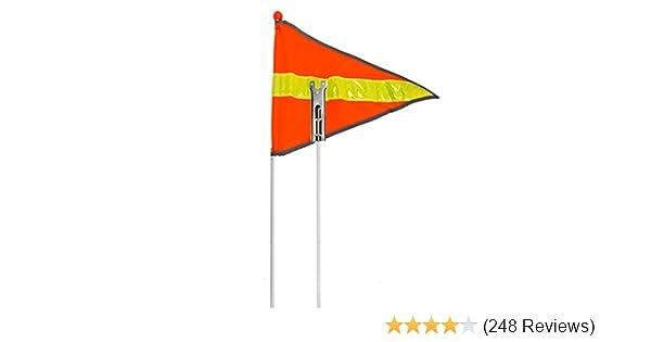 Safety Vehicle 1-Piece Bike Flag 6-Ft Usa