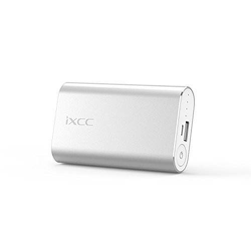 5200mAh Portable Charger, iXCC Power Bank External Battery with Aluminum Shell for iPhone, iPad, Samsung Galaxy and Other Smart Devices - Silver