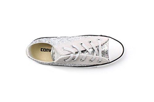 Converse All Tessuto Star Lacci Ox Mouse Glitter 552735c 5 Taylor 36 Silver Chuck pqTxrp