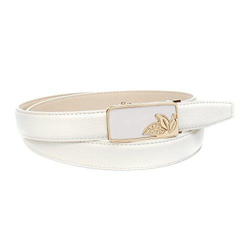 Anthoni Crown Damen A4WZT90 Gürtel, Weiß, 100