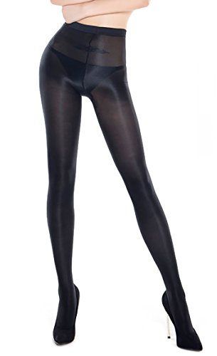 Black Tights Shimmer (70D Sexy Shaping Socks Oil Socks Shiny Silk Stockings Pantyhose Tights Bar Dance (Black))