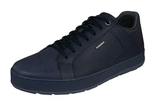 Geox U Ariam D Mens Leather Sneakers/Shoes-Navy-10