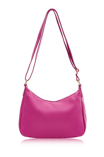 100 for Leather Women's Italian Classic Bag Fuchsia Gift Body Women Bag Soft Shoulder Cross Montte Jinne Di 6gAwq1REW