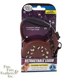 Four Paws Pet Products DFP55162 Dog Fashion Retractable Leash, Small, Brown (Four Paws Leads)